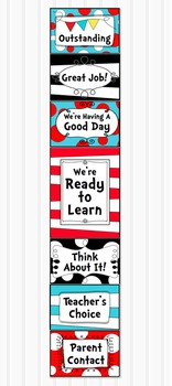 Dr Seuss Inspired Behavior Clip Chart - Classroom Management