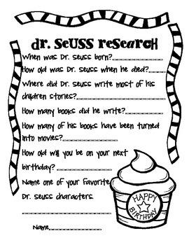 Dr. Seuss Research Activity