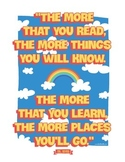 Dr Seuss - The More You Read. Quote Poster