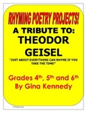 """A Tribute To: Theodor Geisel """"Rhyming Poetry Writing Proje"""