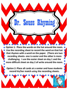 Dr. Suess Rhyming Words