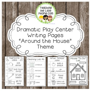 Dramatic Play Forms for Writing - Around the House Theme Image