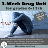 Drug Unit: 3-Weeks of Lessons to Teach the Many Dangers of Drugs