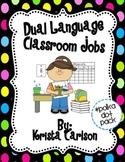 Dual Language Classroom Jobs (Polka Dot Pack)