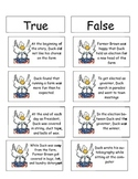 Duck for President True/false cards