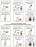 Duck for President retell sequence