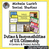 Duties & Responsibilities of Citizenship Centers Activity