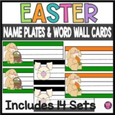 EASTER THEME. DESK PLATES/NAME PLATES/ VOCABULARY CARDS