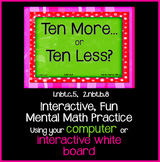 EDITABLE  Interactive Ten More, Ten Less PowerPoint Game Pack