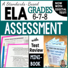 ELA Assessment with Test Review MINI-BOOK - Grades 6-7-8 C
