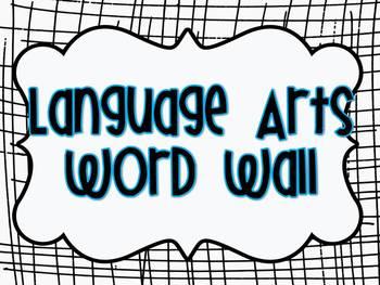 ELA Common Core Vocabulary word wall grades K-6