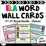 ELA Common Core Word Wall 3rd-6th BUNDLE - Chevron