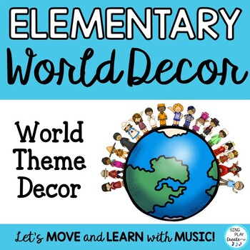 "ELEMENTARY CLASSROOM DECOR ""AROUND THE WORLD""*Posters *Bul"