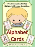 ESL/ELL Newcomers and Early Primary Letter/Sound Cards wit