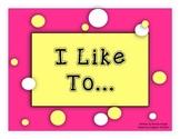 ELL eBook:  I Like To...