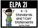 "ELPA21 K-5 Standards and ""I can"" statements"