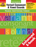 Phonics Intervention Centers: Variant Consonant and Vowel