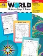 The World: Reference Maps and Forms, Grades 3-6 (Enhanced eBook)