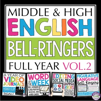 ENGLISH BELL RINGERS / CLASS STARTERS Vol 2: Journals, Terms, Discussion & More!