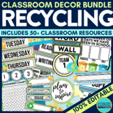 ENVIRONMENTAL / RECYCLING Classroom Theme EDITABLE Decor-3