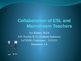 ESL Collaboration With Mainstream Teachers