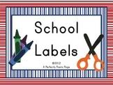 ESL School Vocabulary Cards