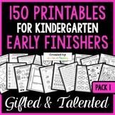 Early Finisher MEGA PACK (100 Printables for Kindergarten