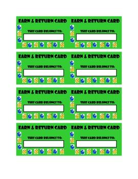 Earn & Return Student Cards