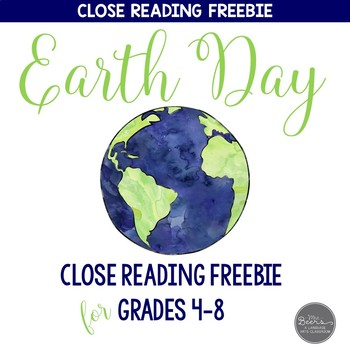 Earth Day Close Reading Toolkit FREEBIE