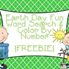 Earth Day Fun Word Search and Color By Number {FREEBIE}