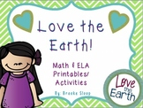 Earth Day Math & ELA Printables & Activities
