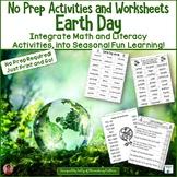 Earth Day No Prep Printables