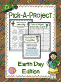 Earth Day- Pick a Project Choice Menu, Activities, & Templates