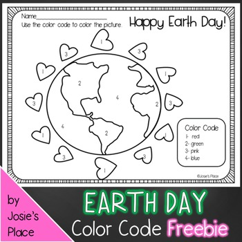 Earth Day Picture and Color Recognition Sheet