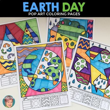 Earth Day Interactive Coloring Sheets