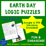 Earth Day Recycling Logic Puzzle Grades 6 - 10