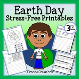 Earth Day NO PREP Printables - Third Grade Common Core