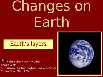 Earth's Layers and Landforms PowerPoint lesson