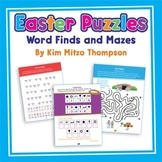 Easter Activities with Puzzles, Word Finds, & Mazes