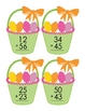 Easter Double Digit Math Facts With and Without Regrouping