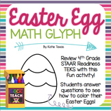 Easter Math Glyph: STAAR MATH REVIEW (Readiness TEKS)