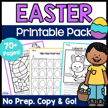 Easter Activities - Copy & Go Easter Math & Literacy Printable Pack