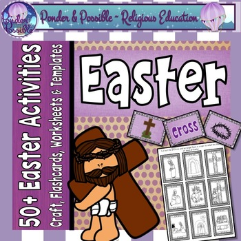 Easter Religious - Palm Sunday, Holy Thursday, Good Friday,  Posters Worksheets