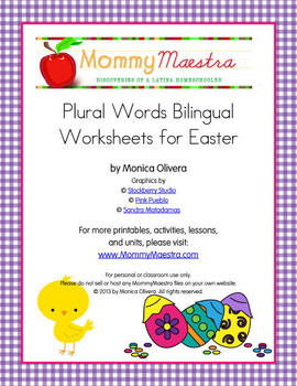 Easter-Themed Bilingual Worksheets for Plural Words