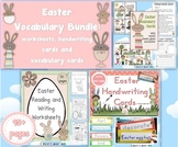 Easter Vocabulary BUNDLE Worksheets, Vocabulary Cards and