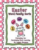 Easter Word Family Sorts