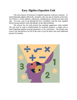 Easy Algebra Unit for Solving Equations