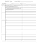 Easy Anecdotal Notes Page for IEP documentation of reading goals