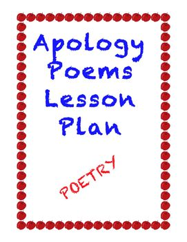 Easy Poetry Lesson: The Apology Poem