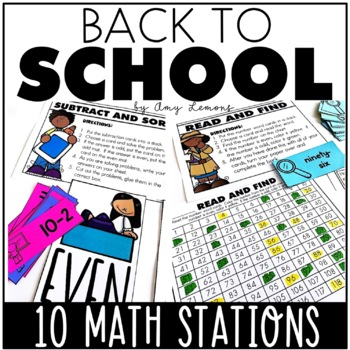 Easy as 1-2-3 Math Centers